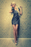 Attractive blonde lady Stock Images