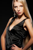 Attractive blonde with long hair Royalty Free Stock Images