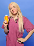 Attractive blonde medical professional Stock Photos