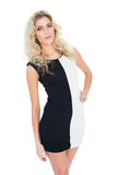 Attractive blonde model posing at camera Royalty Free Stock Photo