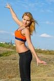 Attractive blonde sportswoman Royalty Free Stock Photos