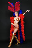 Attractive blonde in stage costume Royalty Free Stock Image
