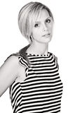 Attractive Blonde in Striped Top Stock Photo