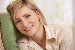 Attractive blonde woman Stock Photos