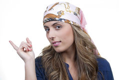 Attractive blonde woman Stock Image