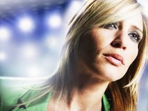 Attractive Blonde Woman Stock Photography
