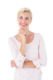 Attractive blonde woman looking away Royalty Free Stock Images