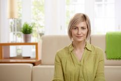 Attractive blonde woman Royalty Free Stock Images