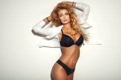 Attractive blonde woman Stock Photos