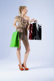Attractive blonde woman shopping Stock Photo