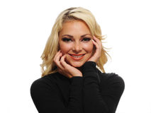 Attractive blonde woman royalty free stock photography