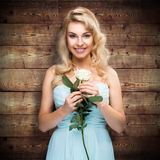 Attractive blonde woman with strong make up Royalty Free Stock Image