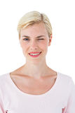 Attractive blonde woman winking Royalty Free Stock Photography