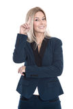 Attractive blonde young business woman isolated on white Royalty Free Stock Photos