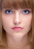 Attractive blue-eyed woman Royalty Free Stock Image