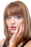 Attractive blue-eyed woman Stock Photo