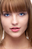 Attractive blue-eyed woman Royalty Free Stock Photography