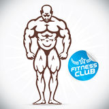 Attractive Bodybuilder illustration Stock Photography
