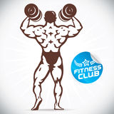 Attractive Bodybuilder illustration Royalty Free Stock Photo