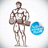 Attractive Bodybuilder illustration Stock Image