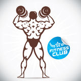 Attractive Bodybuilder illustration Stock Images