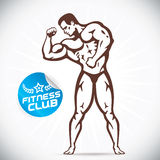 Attractive Bodybuilder illustration Royalty Free Stock Images