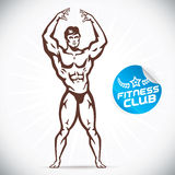 Attractive Bodybuilder illustration Stock Photo