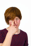 Attractive boy in puberty Royalty Free Stock Images