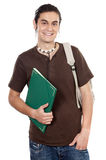 Attractive boy student. A over white background Stock Image