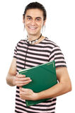 Attractive boy student. A over white background Stock Photography