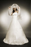 Attractive bride in full-length Stock Photos