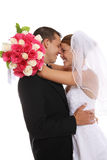 Attractive Bride and Groom at Wedding Royalty Free Stock Image