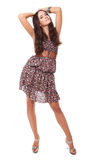 Attractive bright young woman full-length Stock Photo