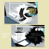 Attractive brochure design Stock Photos