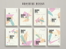 Attractive brochure template Royalty Free Stock Images