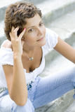 Attractive brunet woman Royalty Free Stock Photo
