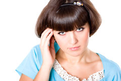 Attractive brunet woman Royalty Free Stock Photos
