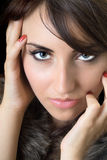 Attractive brunette Royalty Free Stock Photos