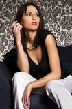 Attractive brunette Royalty Free Stock Images