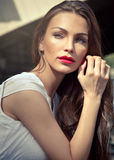 Attractive brunette Royalty Free Stock Photo
