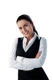 Attractive brunette businesswoman Stock Photos