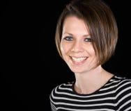attractive brunette camera girl smiling Στοκ Εικόνες