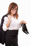 Attractive brunette caucasian business woman Royalty Free Stock Photo