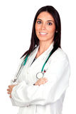Attractive brunette Doctor Stock Images