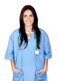 Attractive brunette doctor Royalty Free Stock Photography