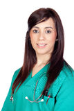 Attractive brunette doctor Royalty Free Stock Photo