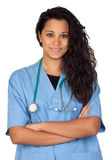 Attractive brunette doctor Royalty Free Stock Images
