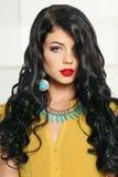 Attractive brunette, fashion portrait Stock Photo