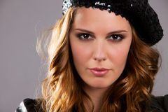Attractive Brunette Female Model Royalty Free Stock Photography