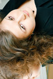 Attractive brunette girl Stock Images